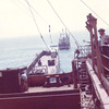 1962,Transfering Cargo  Containers From Wreck To Barge,Salvage Chief Back Ground,