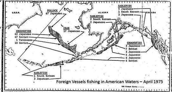 1975 April Foreign Vessels in American Waters Alaska
