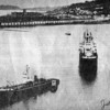 1955,Santa Adela Aground Columbia River,Refloated Salvage Chief,Astoria Background,